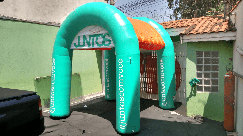 stand inflavel personalizado